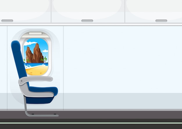 A seat on the airplane