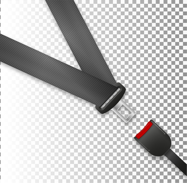 Seat belt icon isolated on white background safety of movement on car airplane protection driver and...