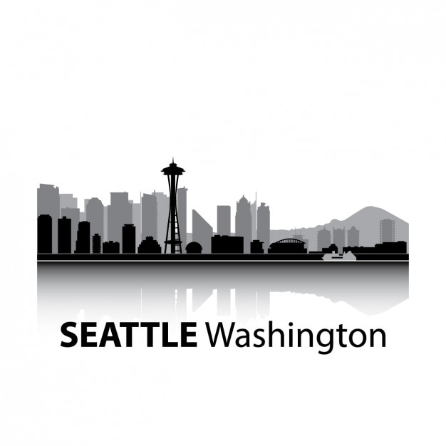 seattle skyline vectors photos and psd files free download rh freepik com Pittsburgh Skyline Vector Houston Skyline Vector
