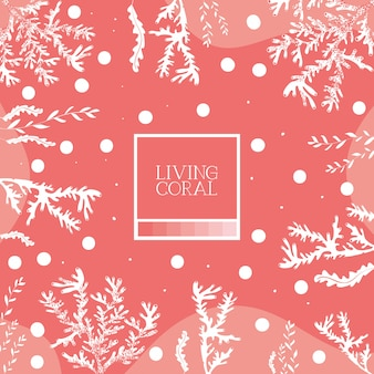 Seaweed background with living coral style