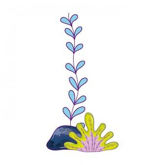 Seaweed underwater nature icon