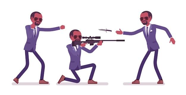 Секретный агент черный человек