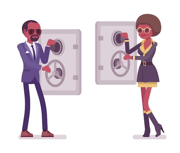 Секретный агент мужчина и женщина шпионы