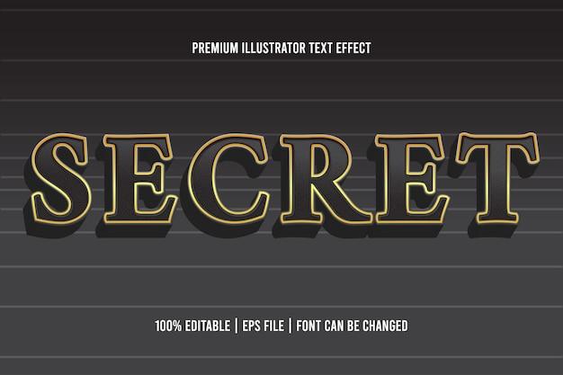 Secret  editable  text effect
