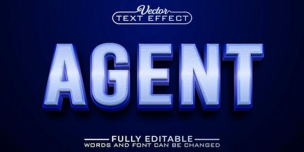 Secret service agent 편집 가능한 텍스트 효과 템플릿