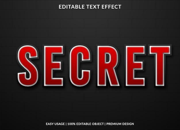 Secret text effect premium style