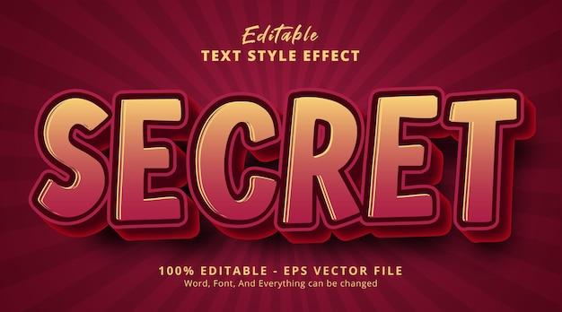 Secret text on poster headline style effect, editable text effect