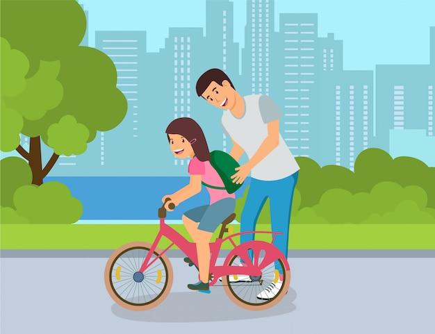 Secrets of successful bike ride for children.