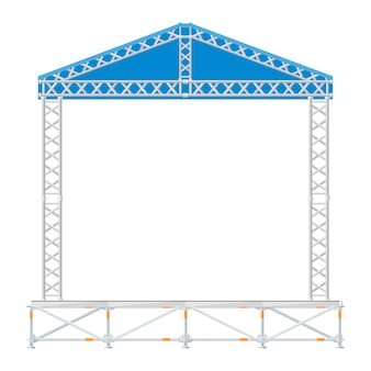 Sectional precast concert metal stage with blue roof