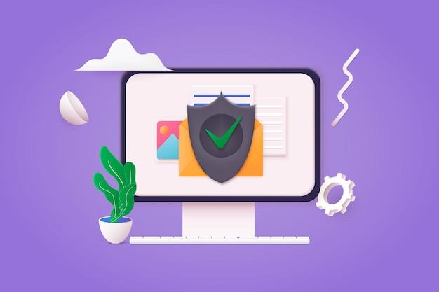 Безопасная папка с конфиденциальными файлами с доступом к бумажным документам и приватной блокировкой