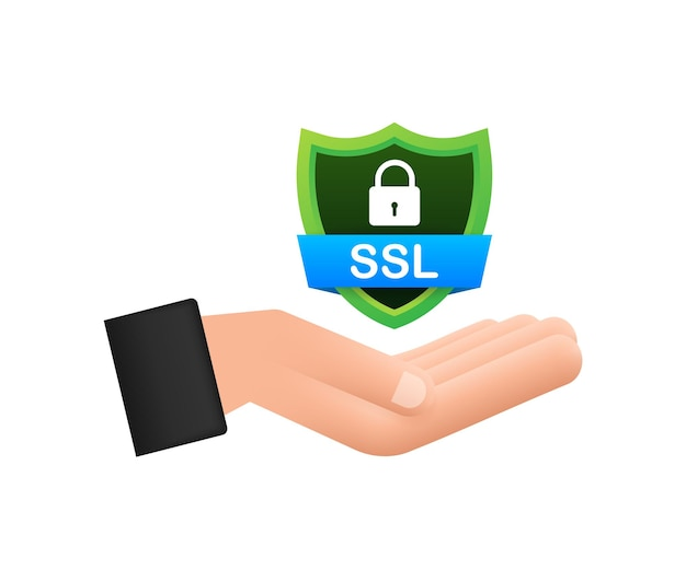Secure connection icon vector illustration isolated on white background