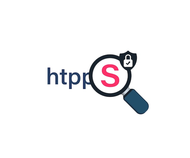 Secure connection icon vector illustration. safe data encryption technology, https certificate privacy sign