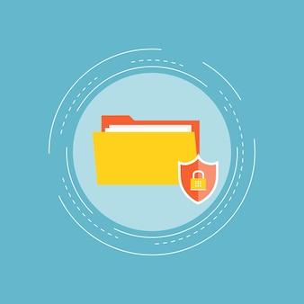 Secure folder background design