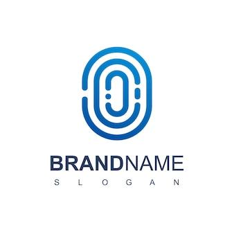 Безопасный логотип с символом отпечатка пальца