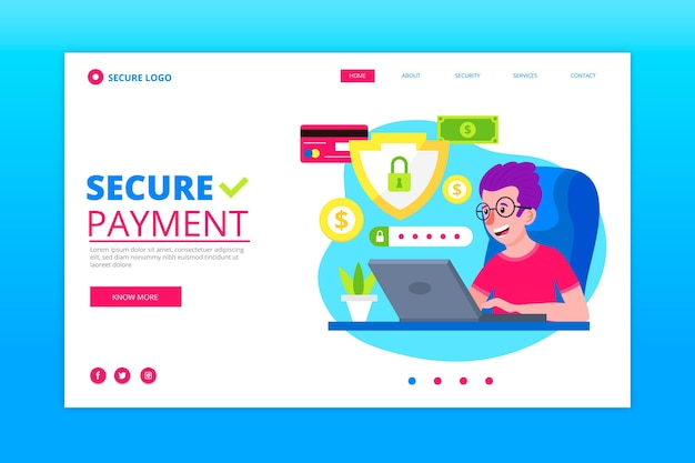 Secure payment landing page template
