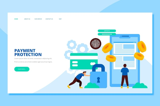 Secure payment landing page theme