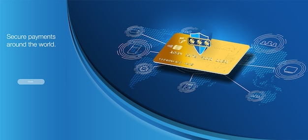 Secure payments around the world. money cards transfers and financial transactions.