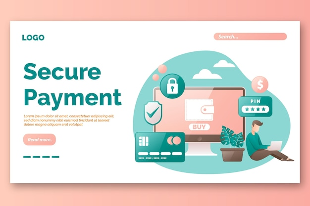 Secure paymeny landing page template