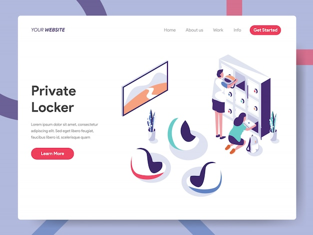 Secure space and private locker landing page
