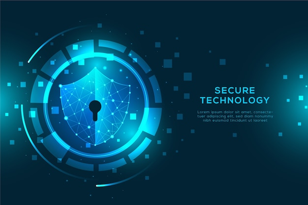 Secure technology background abstract design