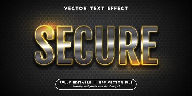 보안 텍스트 효과, 편집 가능한 텍스트 스타일