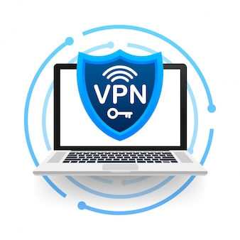 Secure vpn connection concept. virtual private network connectivity overview.   illustration.
