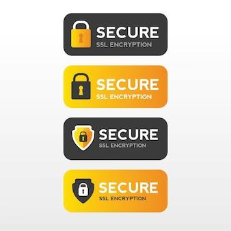 安全なウェブssl保護バナーセキュリティ