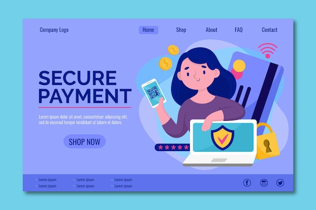 Secure your online payment landing page
