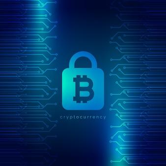 안전한 디지털 인터넷 암호 화폐 비트 코인 배경