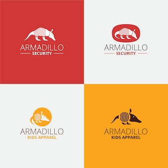 Security armadillo logo design