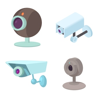 Security camera icon set