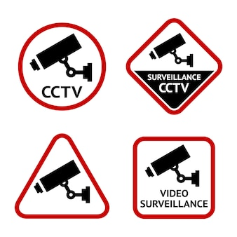 Security camera, set stickers