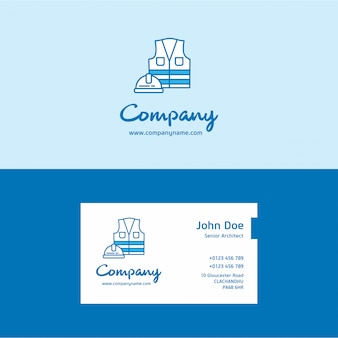 Security company logo and card