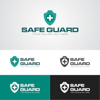 Шаблон дизайна логотипа компании безопасности