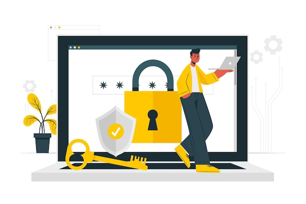 Securityconcept illustration