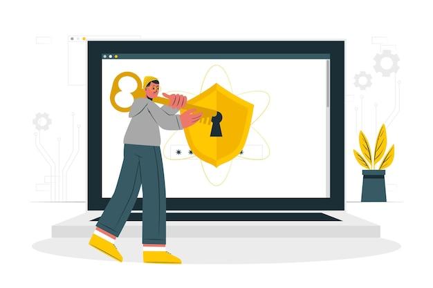 Security onconcept illustration