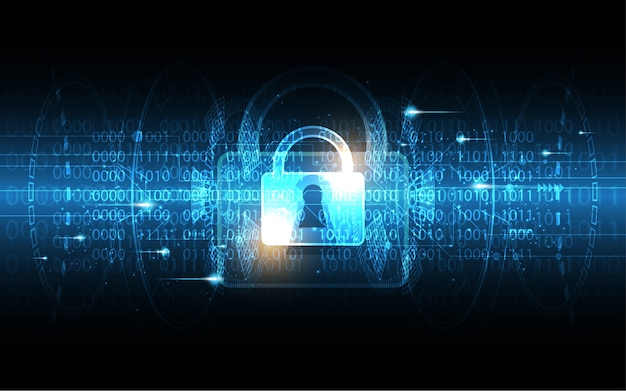 Security cyber digital concept technology background