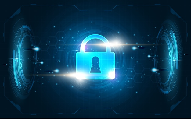 Security cyber digital concept
