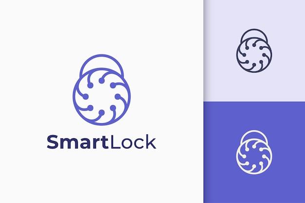 Security or defense logo in padlock shape represent privacy or secret