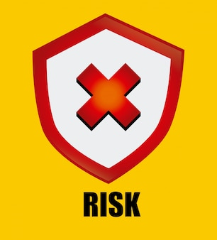 Security design over yellow background