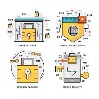 Sicurezza disegna collezione