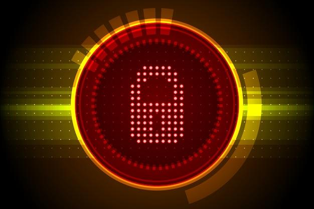 Иллюстрация цифровых данных безопасности, значок замка, концепция защиты интернет.