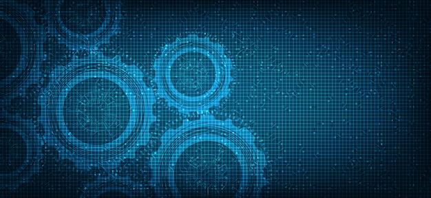 Security gears digital technologyホイールとコグ