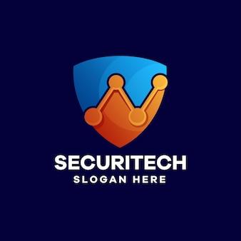 Security gradient logo design