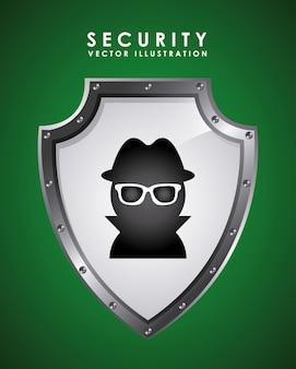 Security graphic design  vector illustration