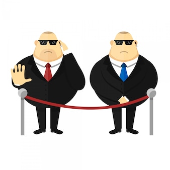 Security guard character  flat illustration