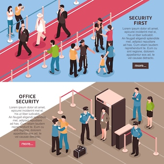 Security horizontal banner set