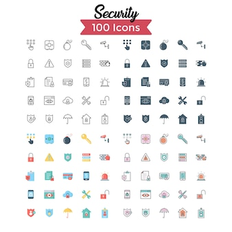 Security icon set.