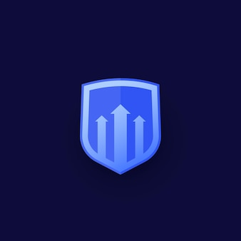 Security increase vector icon for web