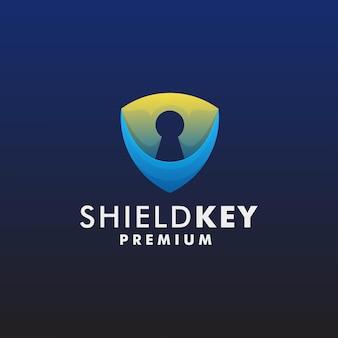 Ключ безопасности логотип шаблон дизайн значок логотип